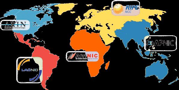 5 RIR around the world